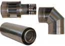 Коаксиальный дымоход для газовых каминов Karma NOBLESSE D130/200 1000 мм в Казани