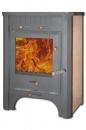 Печь-камин ЭкоКамин Бавария с плитой и теплообменником (ПКПТ 007) в Казани